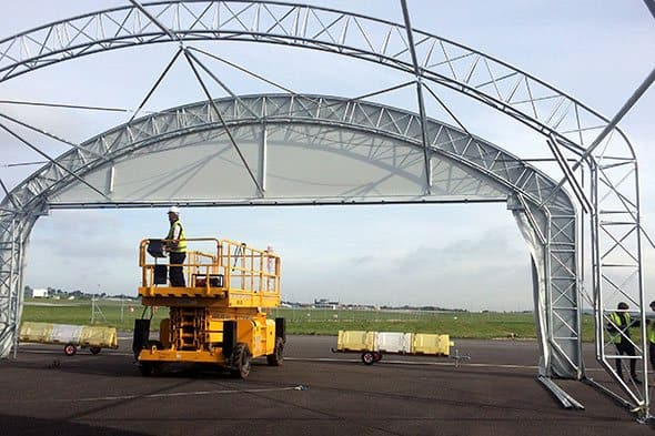 Aircraft Hangar Contruction and Installation at Bristol Airport - McGregor Hangars